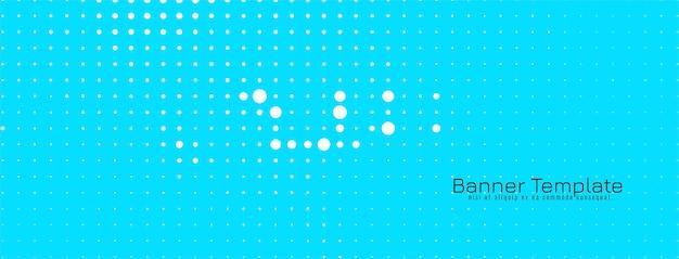 Vecteur de bannière bleu design demi-teinte moderne abstrait