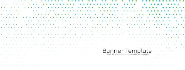 Vecteur de bannière de conception abstraite élégante demi-teinte
