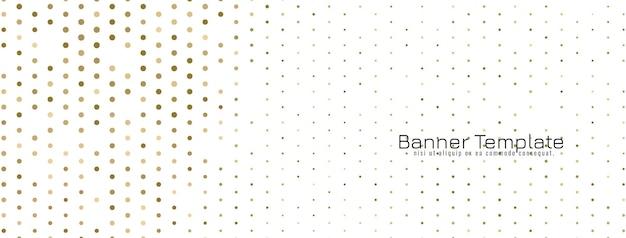 Vecteur de bannière de conception de demi-teintes décoratives modernes