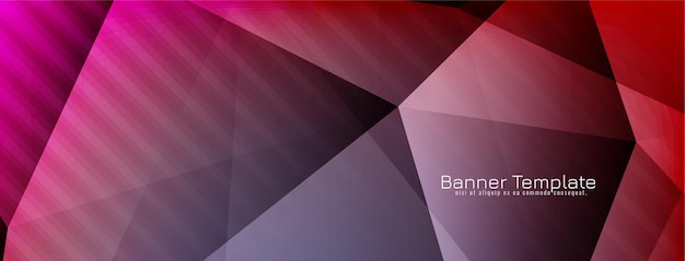 Vecteur de bannière de conception de polygone géométrique coloré moderne