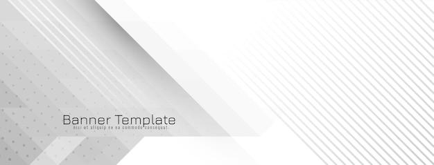 Vecteur de bannière géométrique en mosaïque de crsytal gris et blanc futuriste