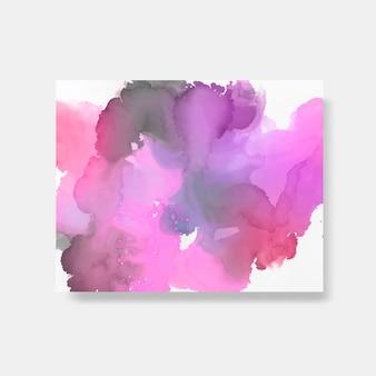 Vecteur de bannière de style aquarelle coloré