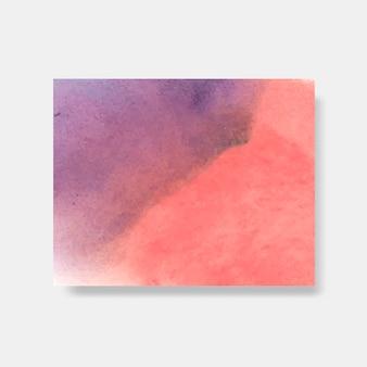 Vecteur de bannière de style aquarelle violet