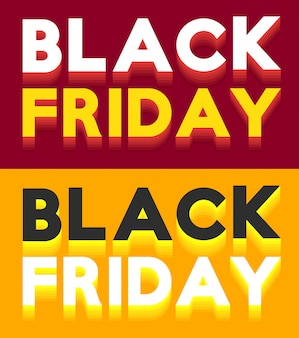 Vecteur de bannière vente vendredi noir