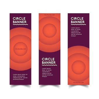 Vecteur de bannières de cercle