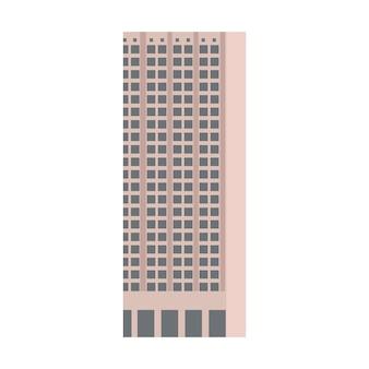 Vecteur de bâtiment city skycraper