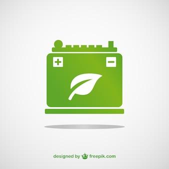 Vecteur de la batterie vert