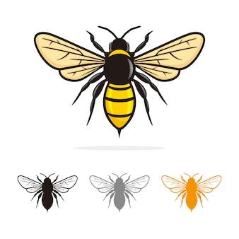 Vecteur de bee logo