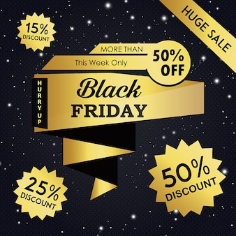 Vecteur black friday backgrounds