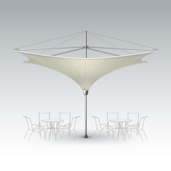 Vecteur blanc beige blanc inversé lotus patio plage extérieure café bar pub lounge