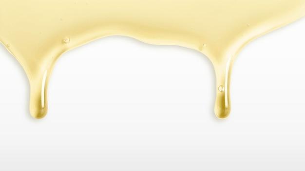Vecteur de bordure de miel dégoulinant de fond or