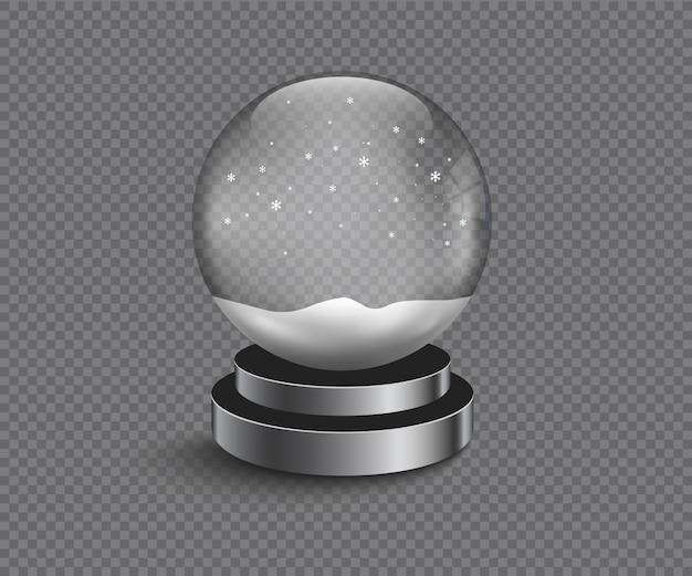 Vecteur de boule de neige vide de noël