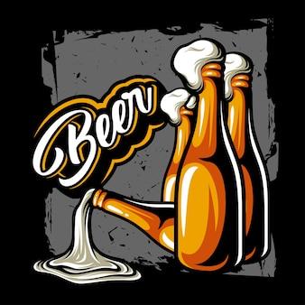 Vecteur de bouteille de bière