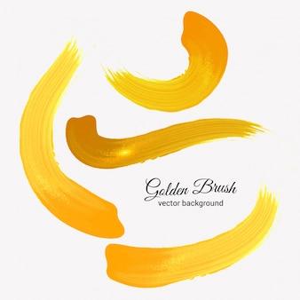 Vecteur de brosse dorée