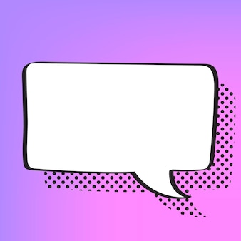 Vecteur de bulle de dialogue dans le style de demi-teintes