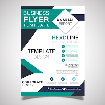 Vecteur business flyer designs