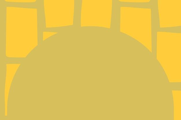 Vecteur de cadre de bloc mignon en forme arquée doodle motif alimentaire
