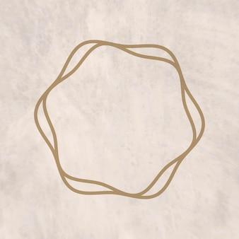 Vecteur de cadre doré rond avec espace de conception