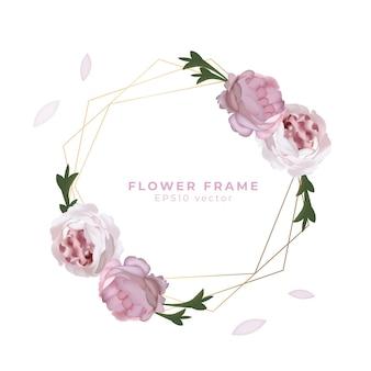 Vecteur de cadre fleur