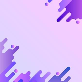 Vecteur de cadre de fond fluide violet