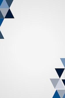 Vecteur de cadre géométrique bleu