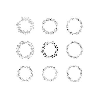 Vecteur de cadre monogramme couronne