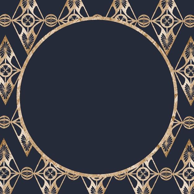 Vecteur de cadre de paillettes d'or vintage, remix d'œuvres d'art de samuel jessurun de mesquita