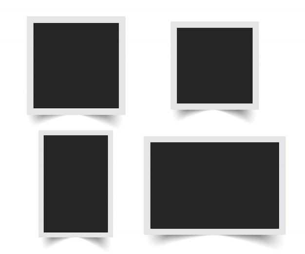 Vecteur de cadre photo blanc
