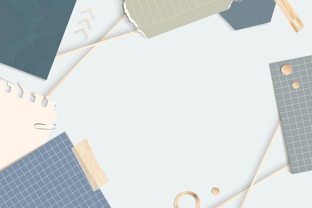 Vecteur de cadre rectangle notes déchirées