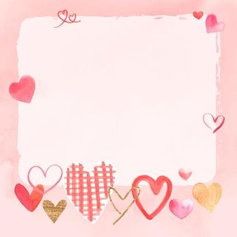 Vecteur de cadre romantique pour la saint-valentin
