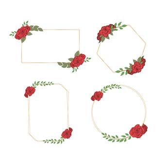 Vecteur de cadre serti de roses