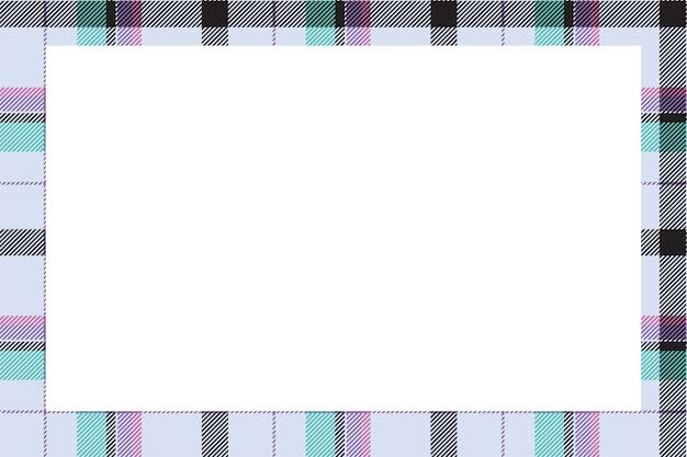 Vecteur de cadre vintage. frontière écossaise. ornement à carreaux tartan.
