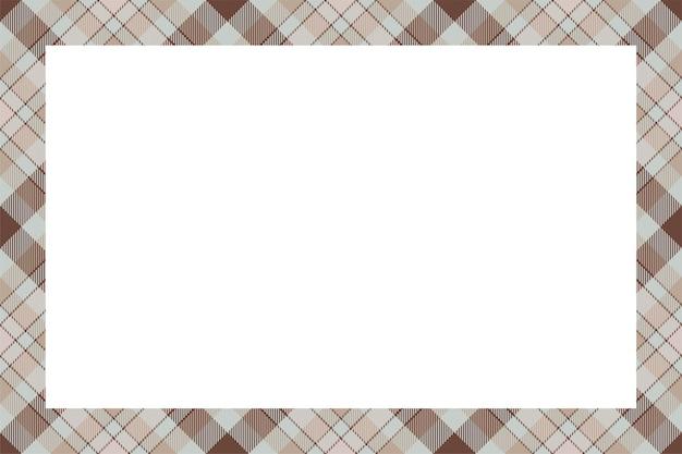 Vecteur de cadre vintage. style rétro de motif de bordure écossaise. arrière-plan vide de beauté, modèle pour photo, portrait, album. ornement à carreaux tartan.