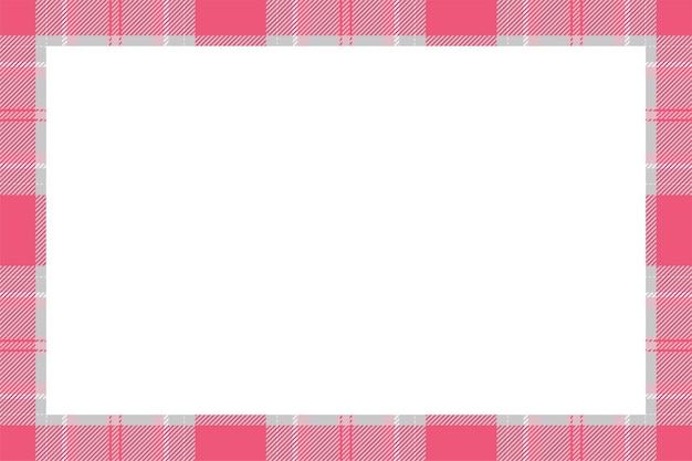 Vecteur de cadre vintage. style rétro de motif de bordure écossaise.
