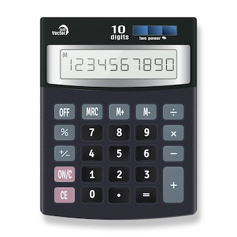 Vecteur de calculatrice électronique
