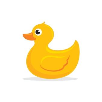 Vecteur de canard en caoutchouc