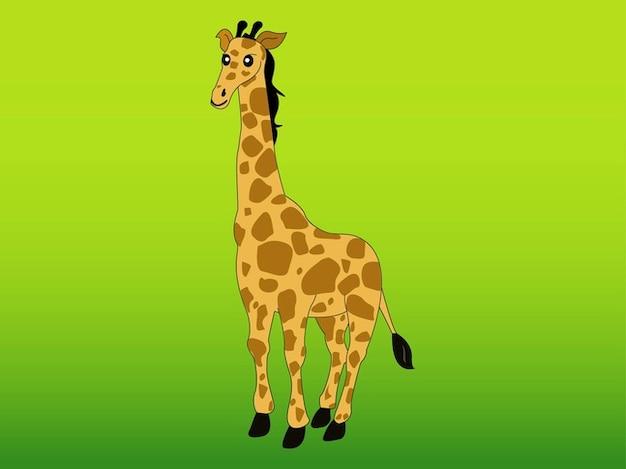 Vecteur de caractère animal girafe africaine