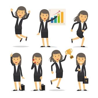 Vecteur de caractère de femme d'affaires