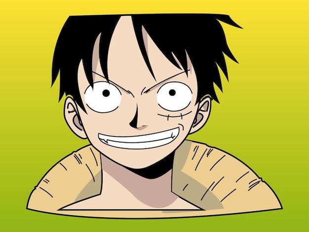 Vecteur de caractère de singe de bande dessinée asiatique