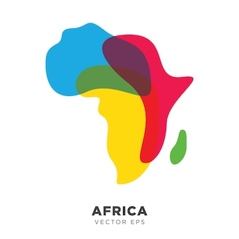 Vecteur de carte afrique créative