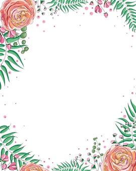 Vecteur de carte élégante invitation de mariage floral design