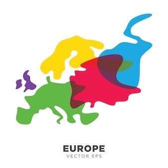 Vecteur de carte europe créative