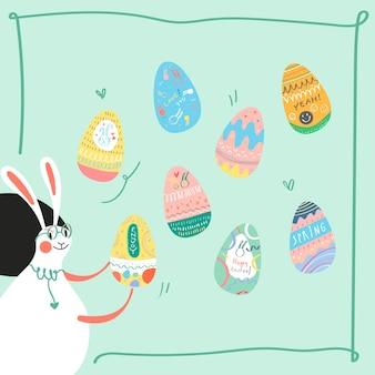 Vecteur de carte de fête de pâques