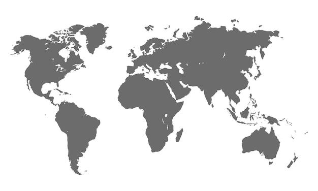 Vecteur de carte mondiale