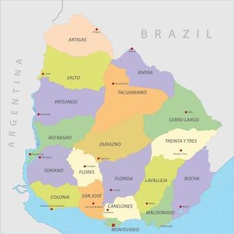 Vecteur de carte de l'uruguay