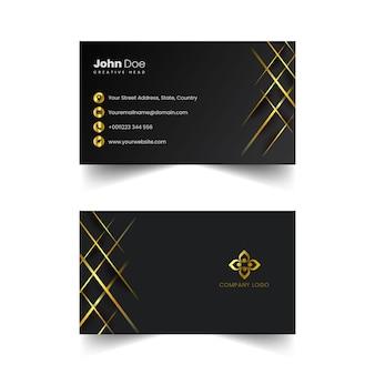 Vecteur de carte de visite doré créatif