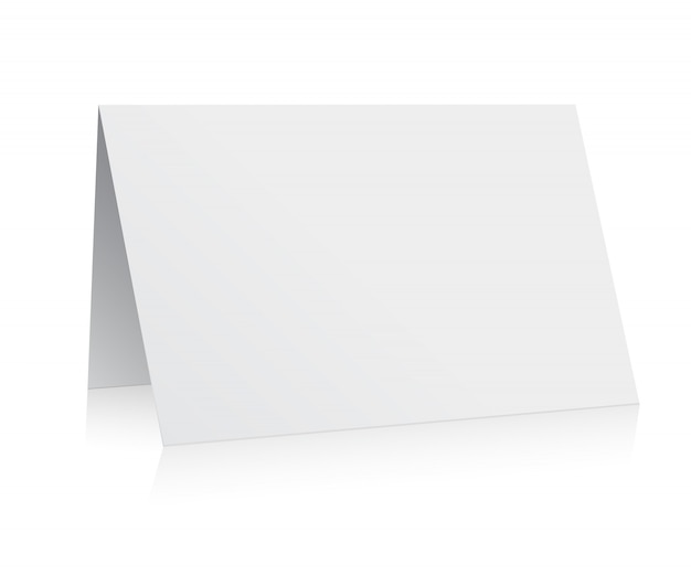 Vecteur de carte de voeux blanc dossier papier