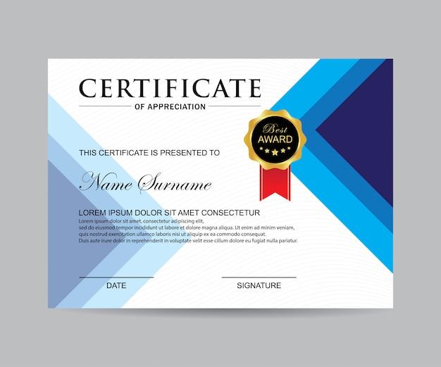 Vecteur de certificat moderne