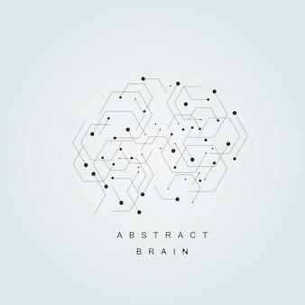 Vecteur cerveau humain abstrait