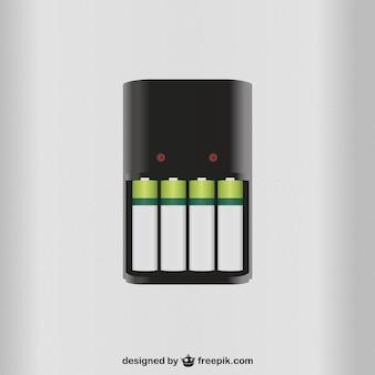Vecteur de chargeur de batterie